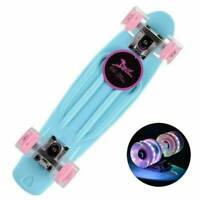 Flashing LED Skateboard Complete Street Long Board Kids Penny Style Scooter 22''