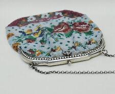 Sac aumonière XIX° s  perles de couleur monture argent accesoire mode vintage