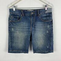 Globe Denim Shorts Mens 32 Blue Chino Pockets