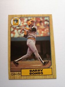 Barry Bonds 1987 Rookie Card RC 320 O Pee Chee OPC - Ungraded Excellent