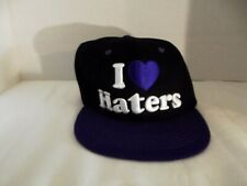 I love Haters Embroidered Purple Black White Adjustable Cap Gullgot
