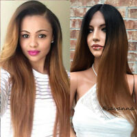 Full Lace Wigs Ombre Brazilian Virgin Human Hair Lace Front Wigs Silky Straight
