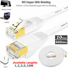 High Speed Rj45 Cat 7 Ethernet LAN Network 10gbps Patch Cable SSTP PC Laptop Lot 15 Meter