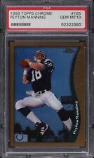 1998 Topps Chrome Peyton Manning ROOKIE RC #165 PSA 10 GEM MINT PMJS