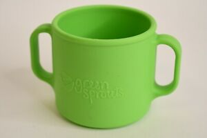 Green Sprouts Green Double Handle Training Cup Dishwasher Safe Top Rack Only