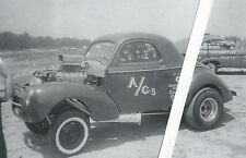 1960's Drag Racing- 1941 Willys A/GS Coupe-Gasser-Connecticut Dragway-1963