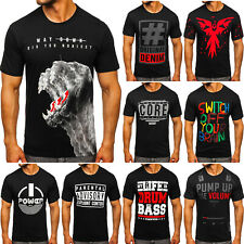T-Shirt Tee Kurzarm Rundhals Motiv Classic Aufdruck Slim Fit Herren BOLF Print