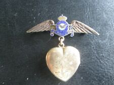 WWII Royal Canadian Air Force Gold Filled Wings and Locket w/ Photos