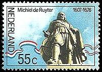 NVPH 1090 POSTFRIS 300 STE STERFDAG MICHIEL DE RUYTER