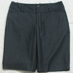 "Mossimo Gray Cotton Blend Woman's Dress Shorts Women's Size Two 2 31"" X 11"" CC9"