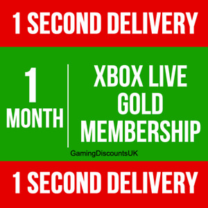 1 MONTH GOLD - Xbox Live Membership Pass, Instant Delivery - Xbox One 360 Series