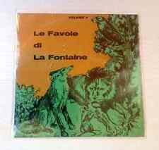 """LE FAVOLE DI LA FONTAINE VOLUME I (narrate da Cesarino) - 7"""" EX/VG+ RARISSIMO"""