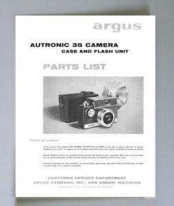 Argus Autotronic 35 Parts List Manual Reprint