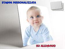 STAMPA SU ALLUMINIO PERSONALIZZATA QUADRO SEMI GLOSSY FOTO LOGO 300 x 300 MM