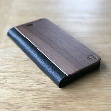 Apple iPhone 7 Walnut Wood / Leather Folio Cover