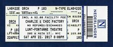 """Christian Borle """"CHARLIE and the CHOCOLATE FACTORY"""" 2017 Unused Preview Ticket"""
