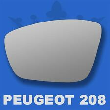 For Peugeot 208 wing mirror glass 12-17 Right Driver side Aspherical Blind Spot
