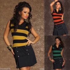 Clubwear Striped Sleeveless Dresses for Women