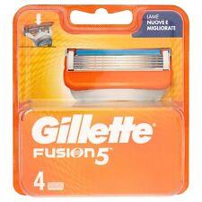 4 Testine Ricambio Gillette Fusion5 Lamette x Rasatura con Striscia Lubrificante