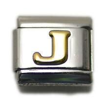 """Italian Charm Bracelet Alphabet Letter Link - LETTER """"J"""""""