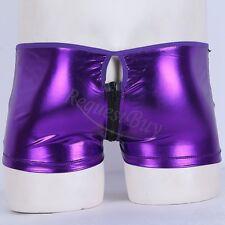 Mens Lingerie Patent Leather Boxer Briefs Shorts Club Underwear Underpants L