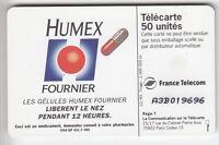 VARIETE TELECARTE FRANCE .. 50U F446A.AC SO5 HUMEX A COLLE A3B019696 UT/TBE C60€