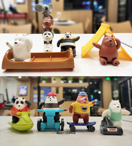 McDonald's 2021 We Bare Bears Happy Meal Toys 8PCS Xmas Gifts &Tracking Number