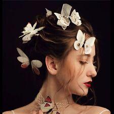 12Pcs White Butterfly Hair Clips Bridal Wedding Hair Headpiece Photograp Prop
