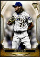 Josh Hader 2019 Topps Triple Threads 5x7 Gold #38 /10 Brewers