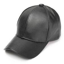 Unisex Men Women PU Leather Baseball Cap Snapback Outdoor Sport Adjustable Hat