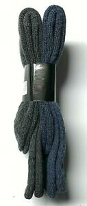 2 Pair Men Blue & Gray Acrylic & Merino Wool Work Heavy Boot Sock Size 10-13.