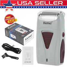 Professional KEMEI Men Hair Clipper Shaver Trimer Cutter Electric Cordless Razor