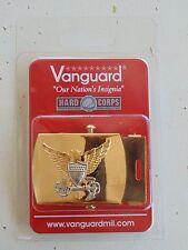 USCG US COAST GUARD ALL O1-O6 OFFICER RANKS RATES UNIFORM PANTS GOLD BELT BUCKLE