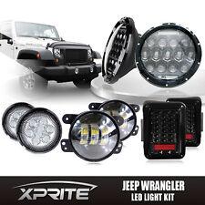"Jeep 7""75W CREE LED Headlights w/ Turn Signal Fog Light Taillight Combo for jeep"