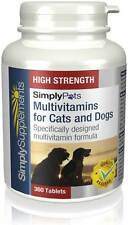 Multivitamins for Cats & Dogs 100% Rda 360 Tablets | General Health & Well Being
