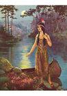 Native Maiden by Frank Robert Harper (Art Print of Vintage Art) (11 x 14)