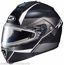 Hjc Is-Max Ii Mine Is-Max2 Electric Modular Snowmobile Helmet Gray Md Medium