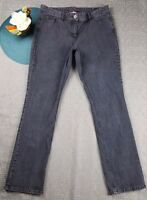 TAPEMEASURE WOMEN'S GRAY COLOR CASUAL JEANS SIZE 14 SLIM SKINNY SPANDEX 1AN12