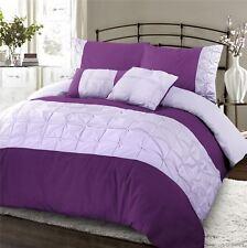 Luxury Range Embroidered Embellished Duvet Quilt Cover Bedding Sets Purple Lilac