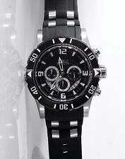 Invicta Watch 23696 Black Rubber Stainless Steel Chronograph 50mm Mens Pro Diver