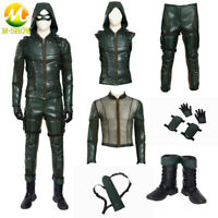Green Arrow Cosplay Costume Luxious Outfit Hoodie Quiver Boots for Halloween