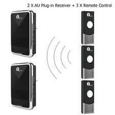 Wireless Digital Doorbell 36 Chimes 2 Plug-in Receiver 3 Remotes Energy Save