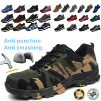 Men's Safety Shoes Steel Toe Work Boots Indestructible Hiking Climbing Sneakers