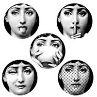 Plate Stickers Wall Designer Fornasetti 5pcs Wallpaper Separated Painting Arts
