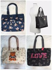 NWT Coach Canvas Tote Special Print Leather Handles F 76650, 91106,91049