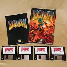 Original 1993 DOOM registered version 1.666 by id Software - mail order, big box