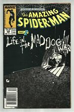 AMAZING SPIDERMAN #295 BILL SIENKIEWICZ COVER! LIFE IN THE MAD DOG WARD PT 2! GD