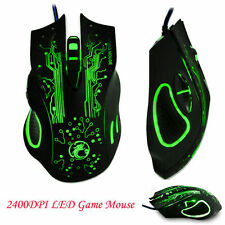 Pro 6D 2400DPI USB Optical Wired Gaming Game Mouse Mice For PC Desktop Laptop