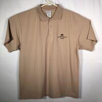 Walt Disney World Animal Kingdom Short Sleeve Khaki Polo Shirt Sz. Large