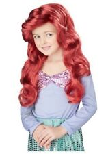 Little Mermaid Princess Ariel Red Child Girls Costume Wig